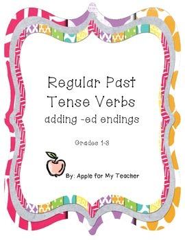 Regular Past Tense Verbs Practice Page
