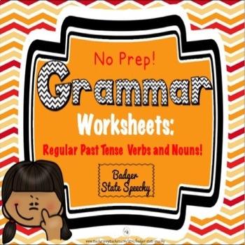 Grammar Worksheets:  Regular Past Tense Verbs & Plurals