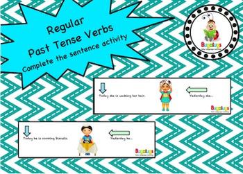 Regular Past Tense Verbs complete the sentence activity