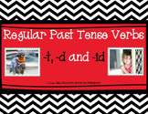 Regular Past Tense Verbs -[t], -[d] and -[id] with Photos