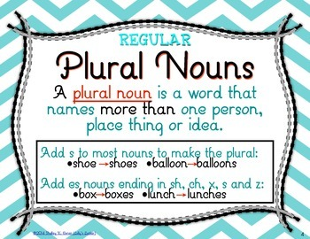 Regular Plural Noun Task Cards L.3.1b
