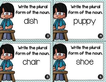 Regular Plural Nouns Task Cards and Activity Bundle
