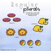 Regular Plural Nouns (No prep grammar and receptive and expressive activity)