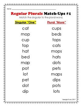 Regular Plurals Activities