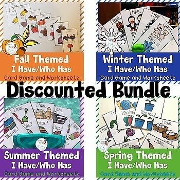 Regular Plurals I have Who has: Seasonal Bundle