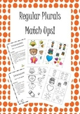 Regular Plurals Match Ups! In Black and White and Colour