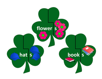 Regular Plurals Shamrocks