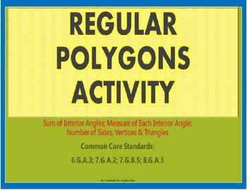 Regular Polygon Activity