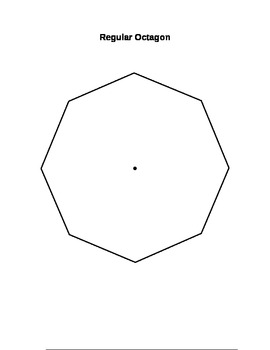 Regular Polygons (Includes Pentagon, Hexagon, Heptagon, and Octagon)