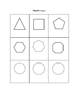Regular Polygons and Diagonals worksheets
