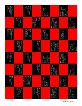 Regular Present Tense Checkerboard
