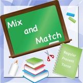Regular Present Tense Mix and Match Puzzle