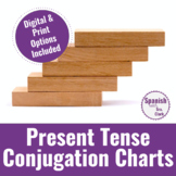 Regular Present Tense Verb Conjugation Charts - Great for sub days too!
