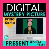 Regular Present Tense Verbs Digital Mystery Picture | Frida Kahlo Pixel Art
