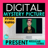 Regular Present Tense Verbs Digital Mystery Picture   Frid