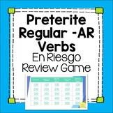 Spanish Preterite Regular -AR Verbs Editable Review Game el pretérito