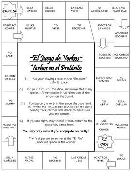 Regular Preterite (Preterit) Board Game
