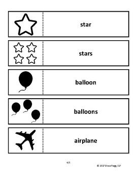 Regular Singular and Plural Noun Activity