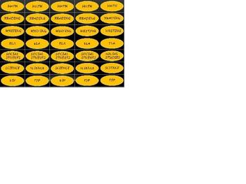 Regular Size Binder Clip Labels - Black & Gold - UPPERCASE