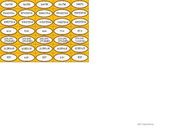 Regular Size Binder Clip Labels - Charlie Brown Tribute Colors - UPPERCASE
