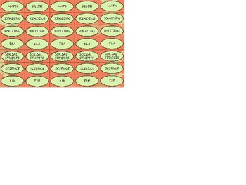 Regular Size Binder Clip Labels - Coral Butterfly Theme - UPPERCASE