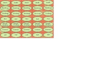 Regular Size Binder Clip Labels - Coral Butterfly Theme - lowercase