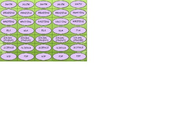 Regular Size Binder Clip Labels - Lavender Butterfly Theme - UPPERCASE