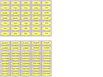 Regular Size Binder Clip Labels - Lavender & Lemongrass - lowercase