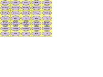 Regular Size Binder Clip Labels - Lavender Sunshine - lowercase