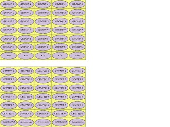 Regular Size Binder Clip Labels - Lavender Sunshine - UPPERCASE