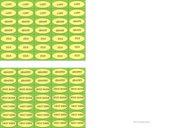 Regular Size Binder Clip Labels - Lemon & Sage - UPPERCASE