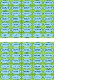 Regular Size Binder Clip Labels - Lime & Teal - UPPERCASE