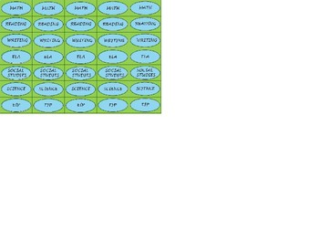 Regular Size Binder Clip Labels - Lime & Teal - UPPERCASE