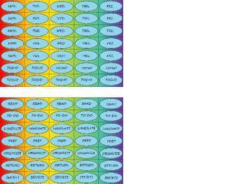 Regular Size Binder Clip Labels - Rainbow - UPPERCASE
