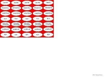 Regular Size Binder Clip Labels - Red & White - UPPERCASE