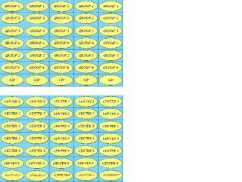 Regular Size Binder Clip Labels - Spring Sunshine Sky - UPPERCASE