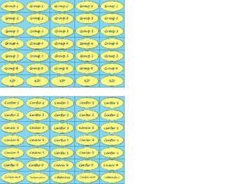 Regular Size Binder Clip Labels - Spring Sunshine Sky - lowercase