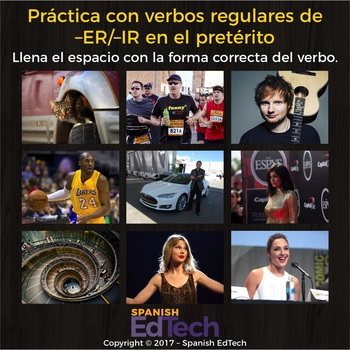 Regular Spanish ER and IR Verbs Practice (Preterite Indicative)