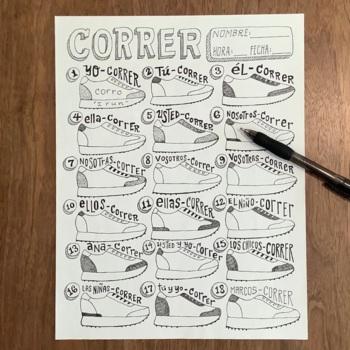 Regular Spanish Verbs ~ER verbs ~Correr Conjugation transl