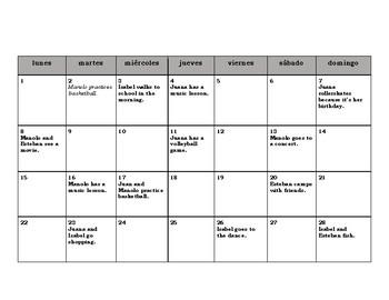 Regular Spanish Verbs and Activities Reading.