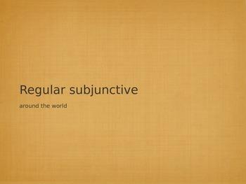 Regular Subjunctive Verb Drill