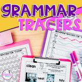 Regular Tense Grammar Tracer Worksheets- Distance Learning