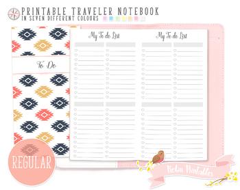 Regular To Do List Traveler Notebook Refill