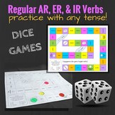 Regular Verbs in Spanish: Dice Games for Reviewing