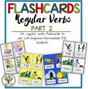 Regular Verbs Part 2 {Flashcards}