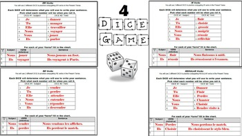 Regular Verbs in French Unit Pack: PPT Lessons, Worksheets, Dice Games