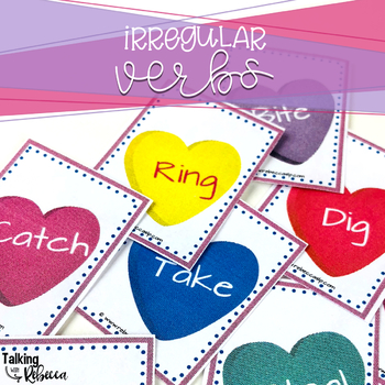 Valentine Themed Regular and Irregular Verbs and Sentences