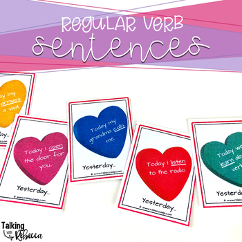 Valentine Themed Regular and Irregular Verbs and Sentences