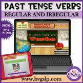 Regular and Irregular Past Tense Verbs Teletherapy NO PREP NO PRINT