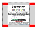 Regular and Irregular Past Tense Verbs - Roll-a-Dice Language Game